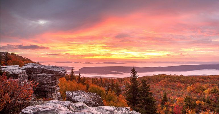 sunset view over dolly sods