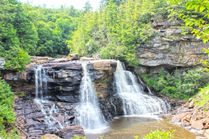blackwater falls in north west virginia